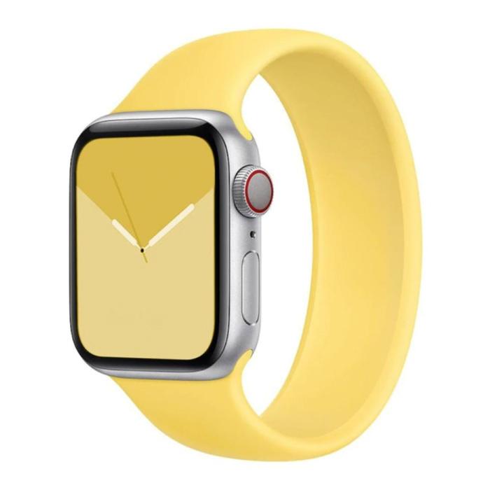 Siliconen Bandje voor iWatch 38mm / 40mm  (Medium Small) - Armband Strap Polsband Horlogeband Geel