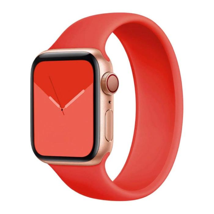 Silikonarmband für iWatch 42mm / 44mm (Medium Small) - Armband Armband Armband Armband Rot