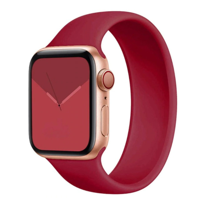 Silicone Strap for iWatch 42mm / 44mm (Extra Small) - Bracelet Strap Wristband Watchband Dark Red