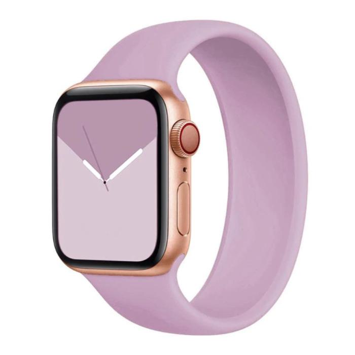 Siliconen Bandje voor iWatch 42mm / 44mm  (Medium Small) - Armband Strap Polsband Horlogeband Paars