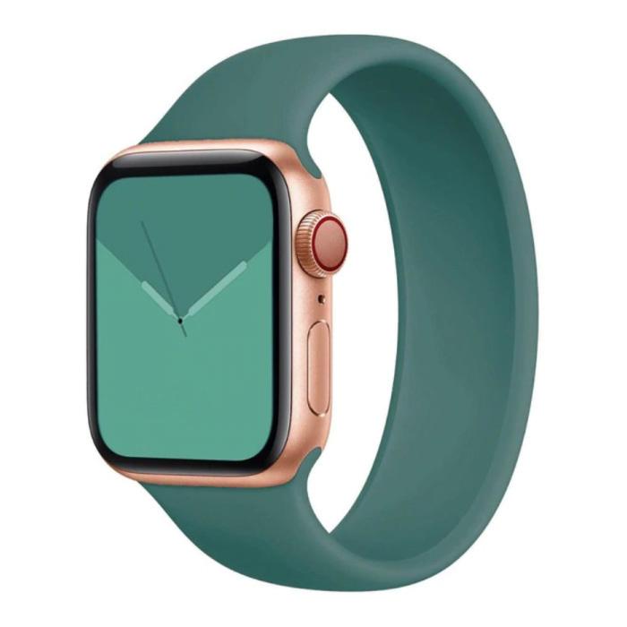 Siliconen Bandje voor iWatch 38mm / 40mm  (Medium Small) - Armband Strap Polsband Horlogeband Lichtgroen
