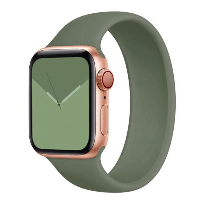 Siliconen Bandje voor iWatch 38mm / 40mm  (Medium Small) - Armband Strap Polsband Horlogeband Groen