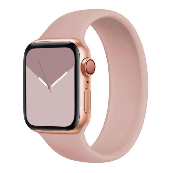 Siliconen Bandje voor iWatch 38mm / 40mm  (Medium) - Armband Strap Polsband Horlogeband Roze