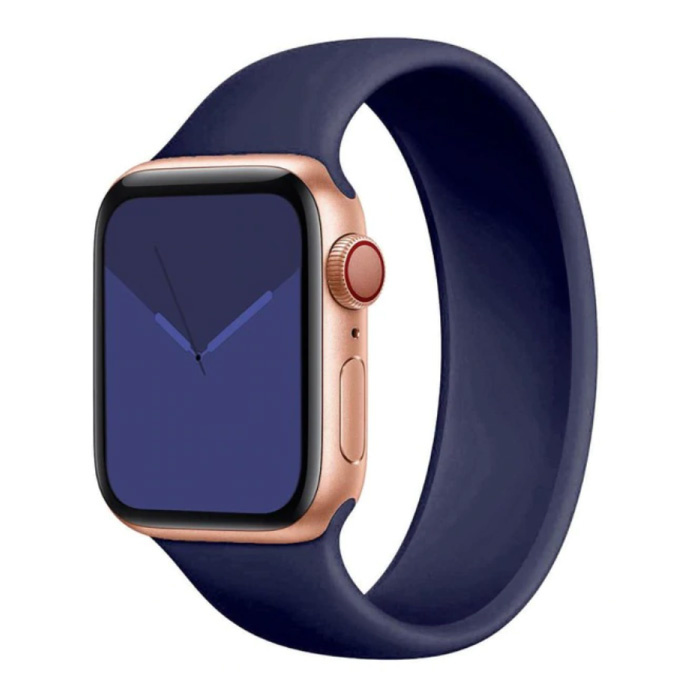 Siliconen Bandje voor iWatch 42mm / 44mm  (Medium) - Armband Strap Polsband Horlogeband Blauw