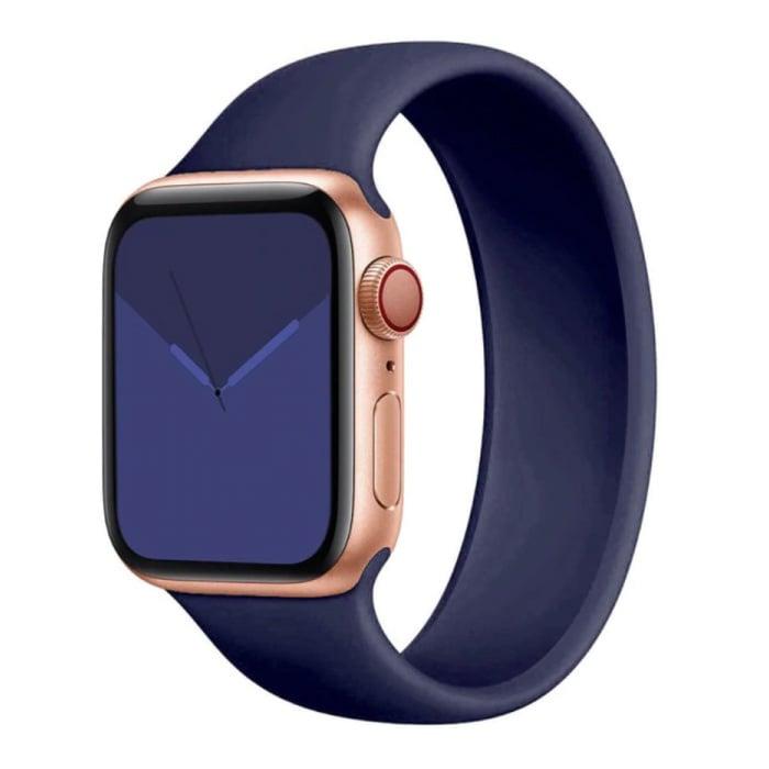Siliconen Bandje voor iWatch 38mm / 40mm  (Extra Small) - Armband Strap Polsband Horlogeband Blauw