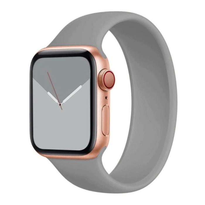 Siliconen Bandje voor iWatch 38mm / 40mm  (Medium) - Armband Strap Polsband Horlogeband Grijs