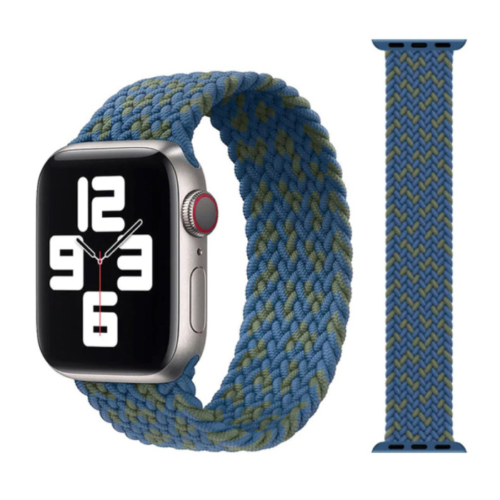 Geflochtenes Nylonband für iWatch 42mm / 44mm (klein) - Armband Armband Armband Armband blau-grün