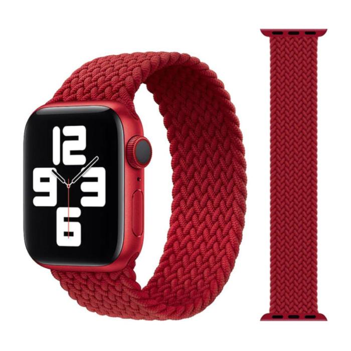 Geflochtenes Nylonband für iWatch 42mm / 44mm (Mittel) - Armband Armband Armband Armband Rot