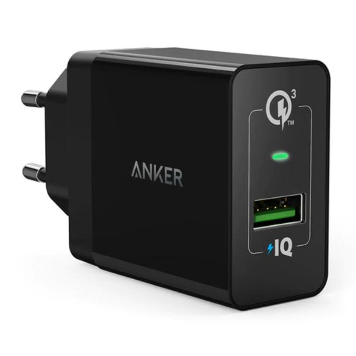 Steckladegerät - PowerIQ / Quick Charge 3.0 Wallcharger Wechselstrom-Ladegerät Adapter Schwarz