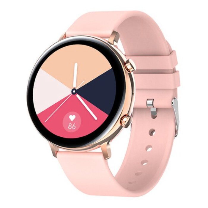ECG Smartwatch - Bracelet en silicone Fitness Sport Activity Tracker Watch Android - Rose