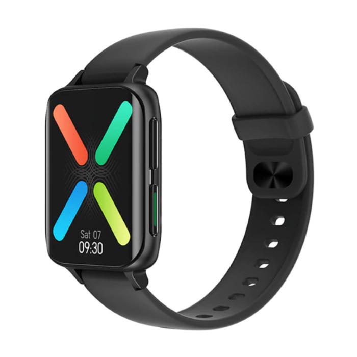 2021 EKG Smartwatch - Silikonband Fitness Sport Activity Tracker Uhr Android - Schwarz