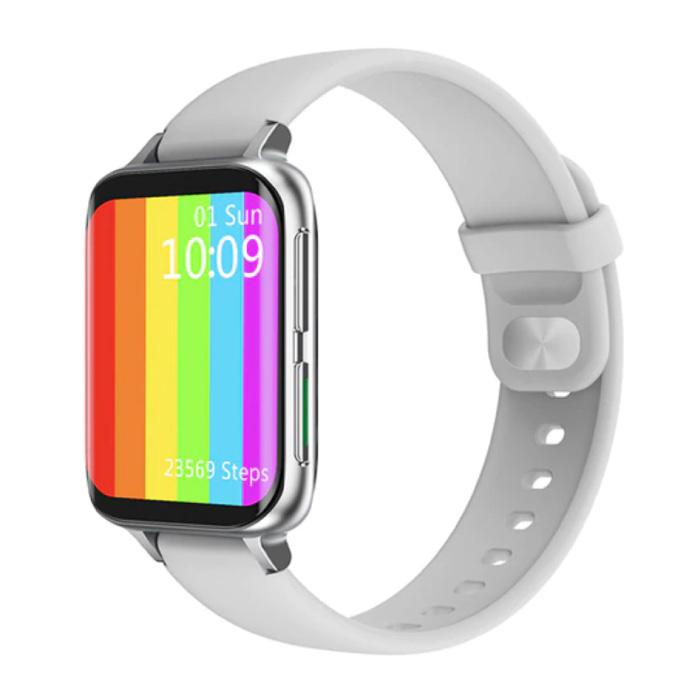 2021 EKG Smartwatch - Silikonband Fitness Sport Activity Tracker Uhr Android - Weiß