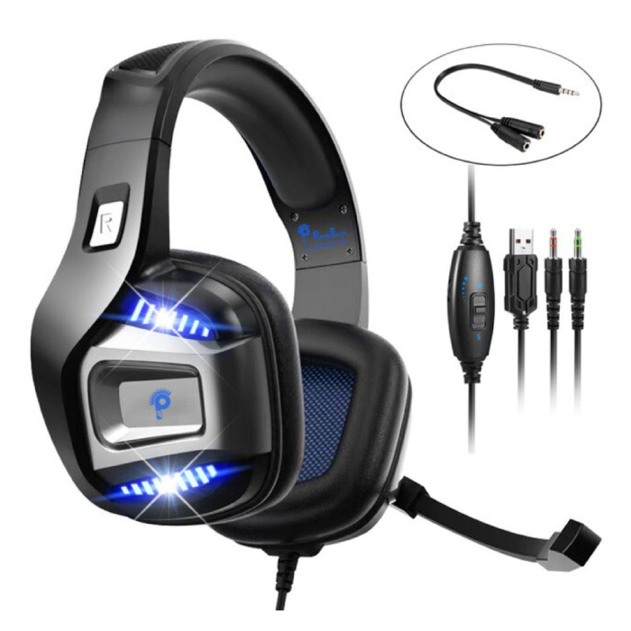 S01 Wireless Gaming Headphones with Omnidirectional Mic - For PS4 / PS5 - Headset Headphones with Microphone Black