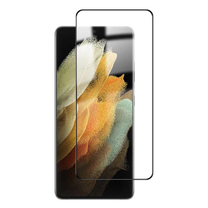 Protecteur d'écran Samsung Galaxy S21 Ultra Full Cover Film de verre trempé 9D Lunettes en verre trempé