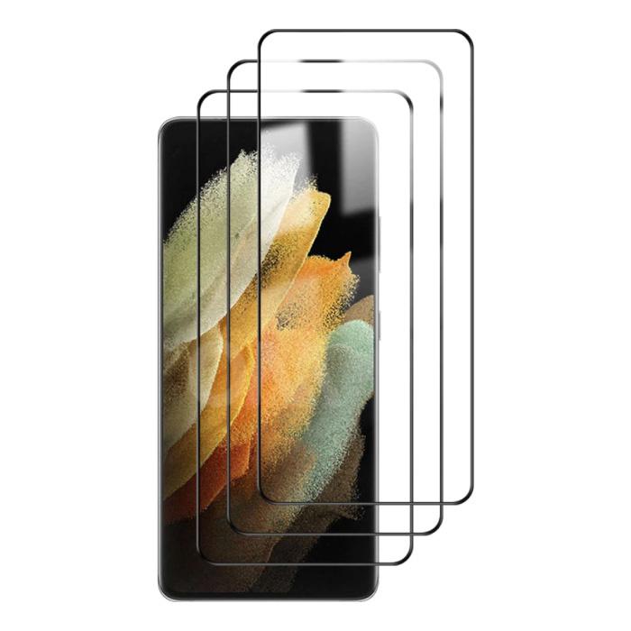 3er-Pack Samsung Galaxy S21 Ultra Full Cover Displayschutzfolie 9D gehärtete Glasfolie gehärtete Glasbrille
