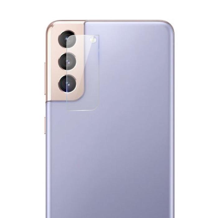 Lot de 2 couvercles d'objectif en verre trempé pour Samsung Galaxy S21 Plus - Protection antichoc