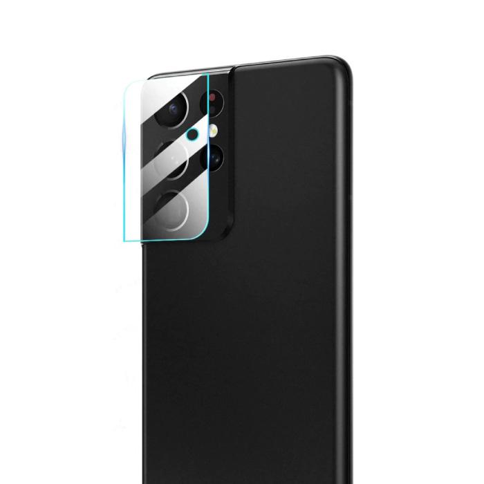 Lot de 3 couvercles d'objectif en verre trempé pour appareil photo Samsung Galaxy S21 Ultra - Protection antichoc