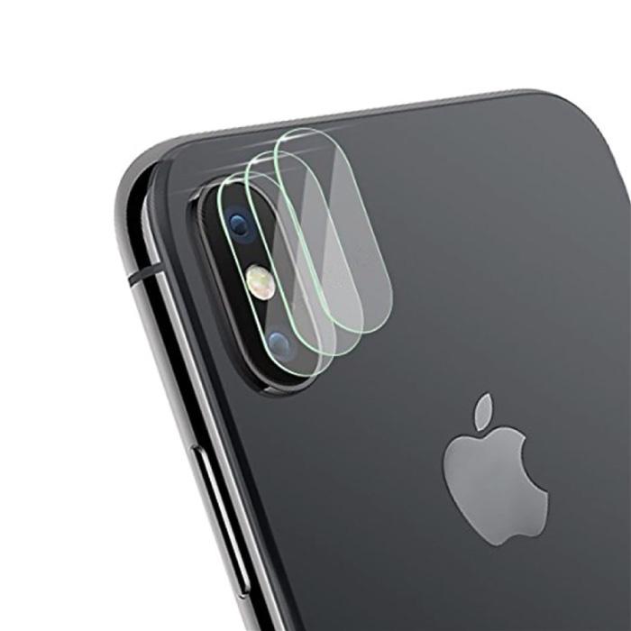 Lot de 3 couvercles d'objectif en verre trempé pour iPhone XS - Protection antichoc