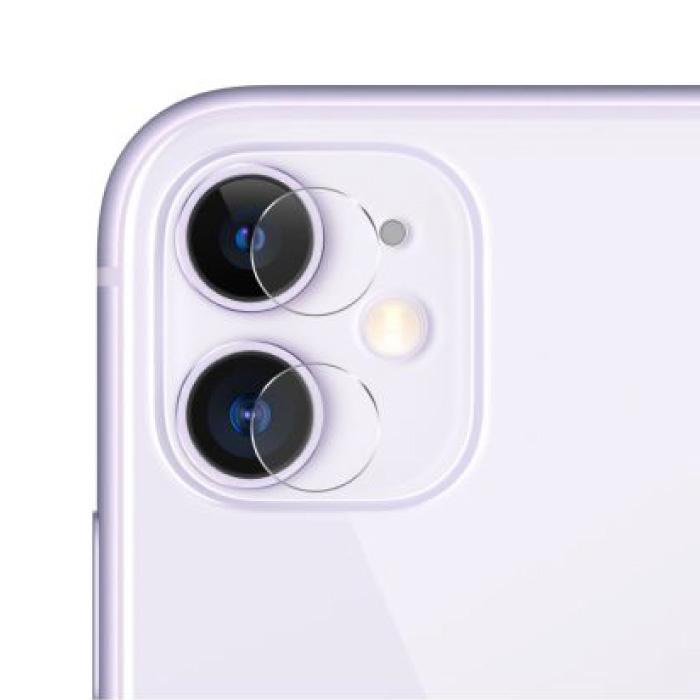 Couvre-objectif en verre trempé pour iPhone 11 - Pack de 3 - Protection antichoc