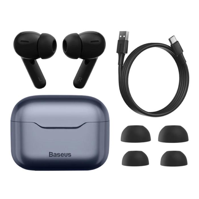 S1 Draadloze Oortjes - ANC True Touch Control TWS Bluetooth 5.0 Earphones Earbuds Oortelefoon Donkerblauw