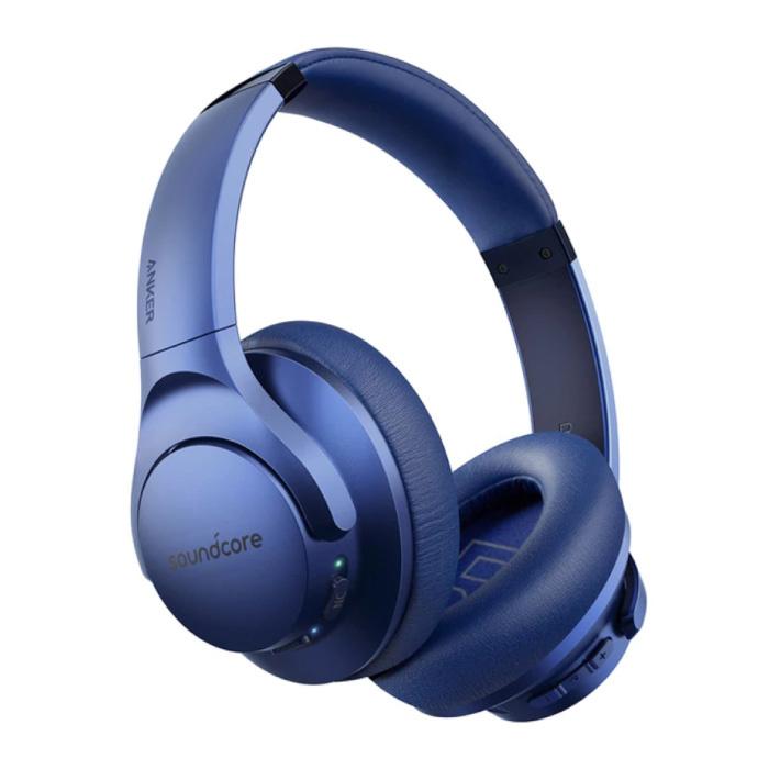 Q20 Wireless-Kopfhörer - Bluetooth 5.0 Wireless-Kopfhörer Stereo Studio Blue