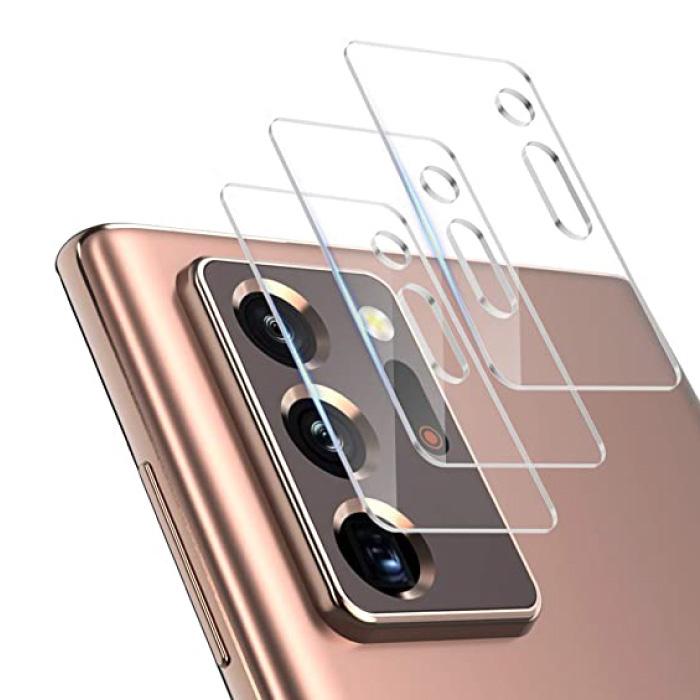 Lot de 3 couvercles d'objectif en verre trempé pour appareil photo Samsung Galaxy Note 20 Ultra - Protection antichoc