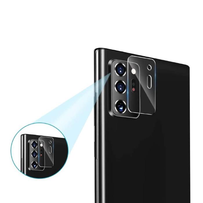 2er-Pack Samsung Galaxy Note 20 Kameragehäuseabdeckung aus gehärtetem Glas - Stoßfester Gehäuseschutz