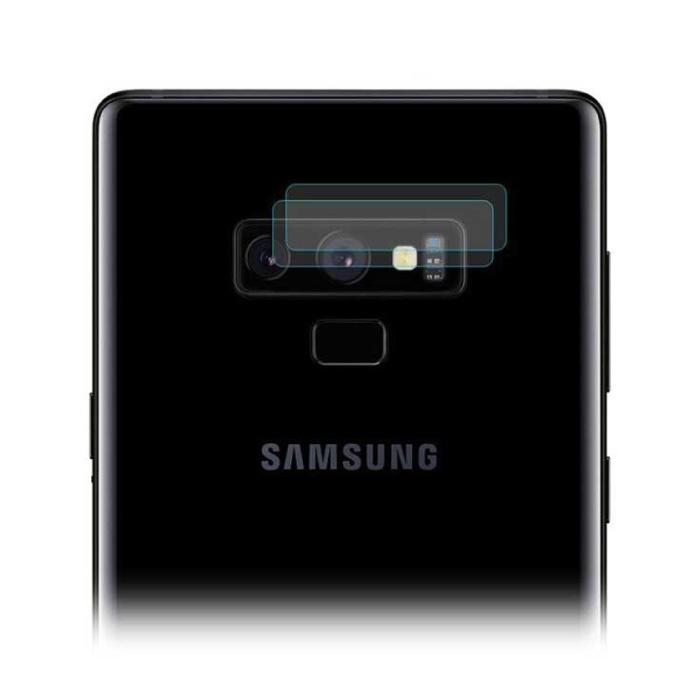 Lot de 2 couvercles d'objectif en verre trempé pour Samsung Galaxy Note 9 - Protection antichoc