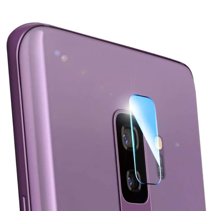 2-Pack Samsung Galaxy S9 Plus Tempered Glass Camera Lens Cover - Shockproof Case Bescherming