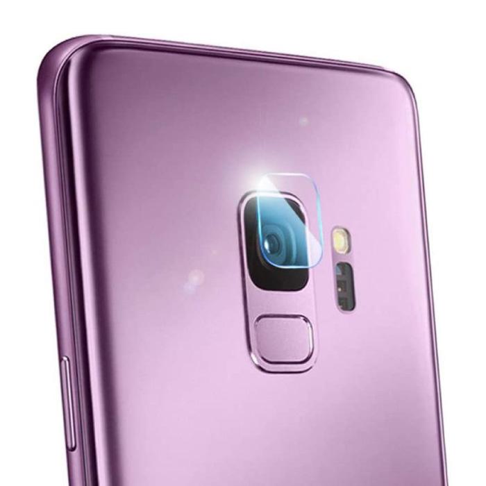 Lot de 2 couvercles d'objectif en verre trempé pour Samsung Galaxy S9 - Protection antichoc