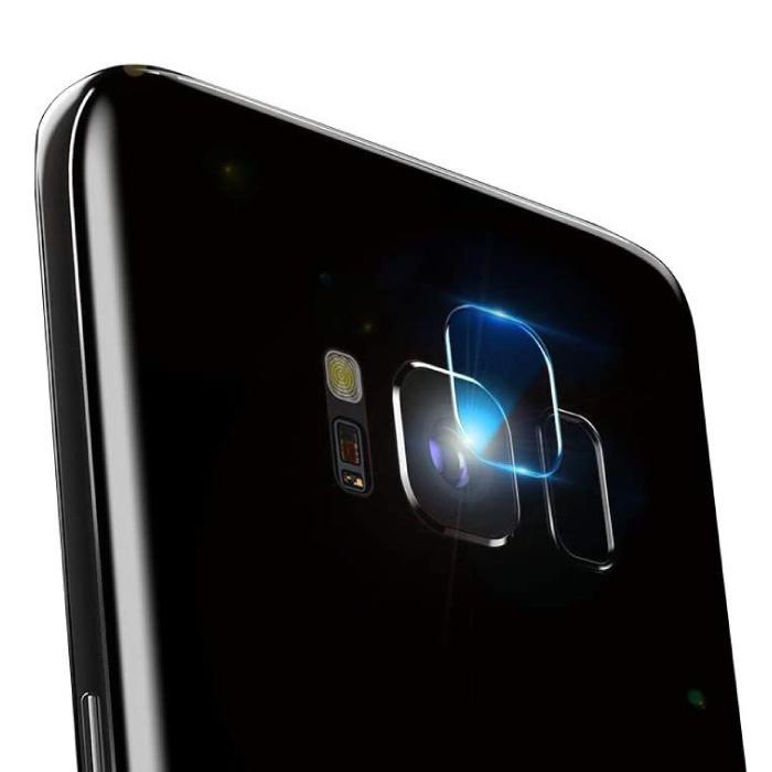 Lot de 2 couvercles d'objectif en verre trempé pour Samsung Galaxy S8 Plus - Protection antichoc