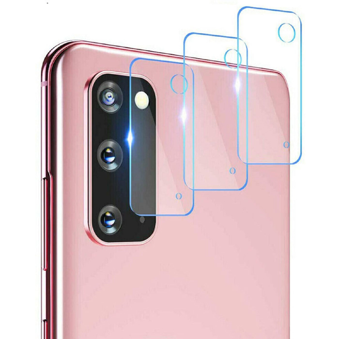 Lot de 3 couvercles d'objectif en verre trempé pour Samsung Galaxy S20 FE - Protection antichoc