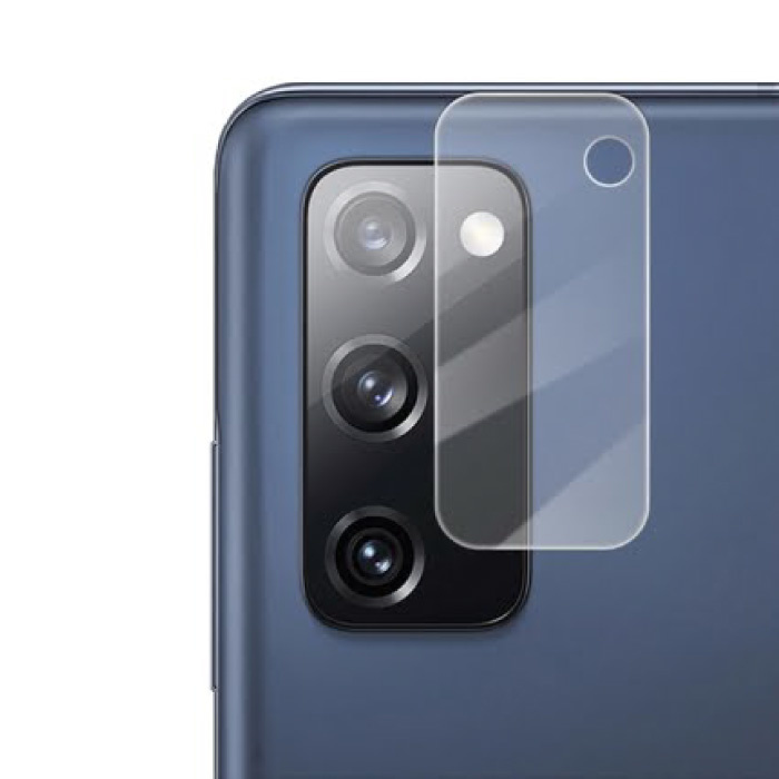 Samsung Galaxy S20 FE Kameraobjektivabdeckung aus gehärtetem Glas - stoßfester Gehäuseschutz