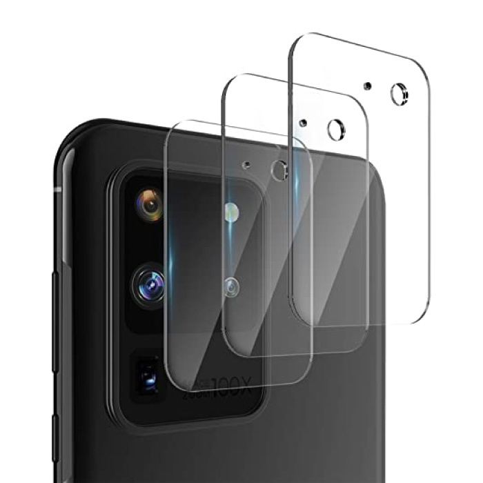3-Pack Samsung Galaxy S20 Ultra Tempered Glass Camera Lens Cover - Shockproof Case Bescherming