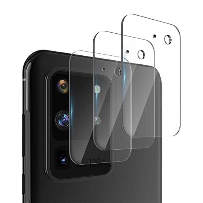 Lot de 3 couvercles d'objectif en verre trempé pour appareil photo Samsung Galaxy S20 Ultra - Protection antichoc