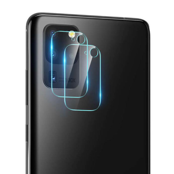 Lot de 2 couvercles d'objectif en verre trempé pour appareil photo Samsung Galaxy S20 Ultra - Protection antichoc