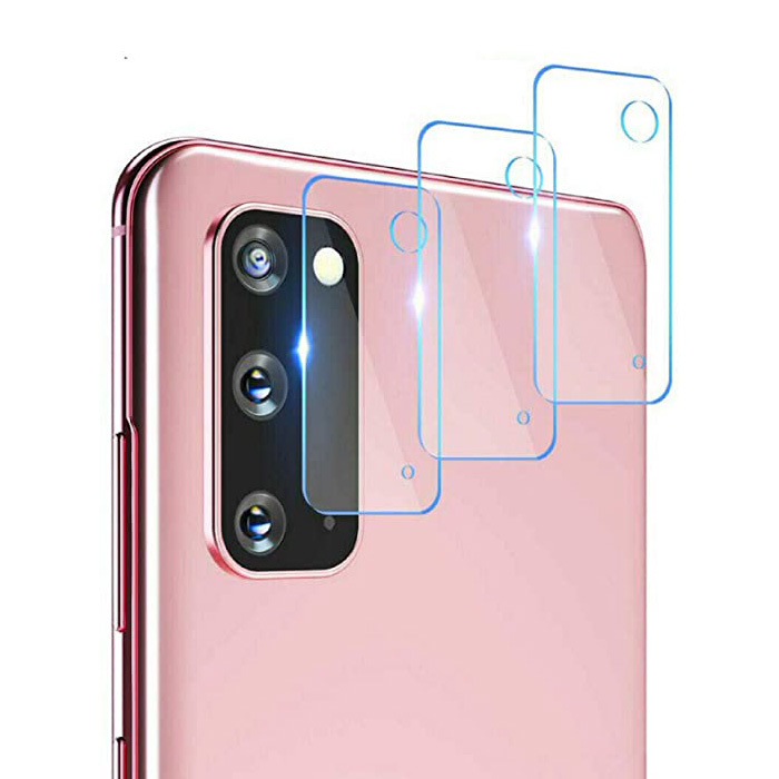 3-Pack Samsung Galaxy S20 Plus Tempered Glass Camera Lens Cover - Shockproof Case Bescherming