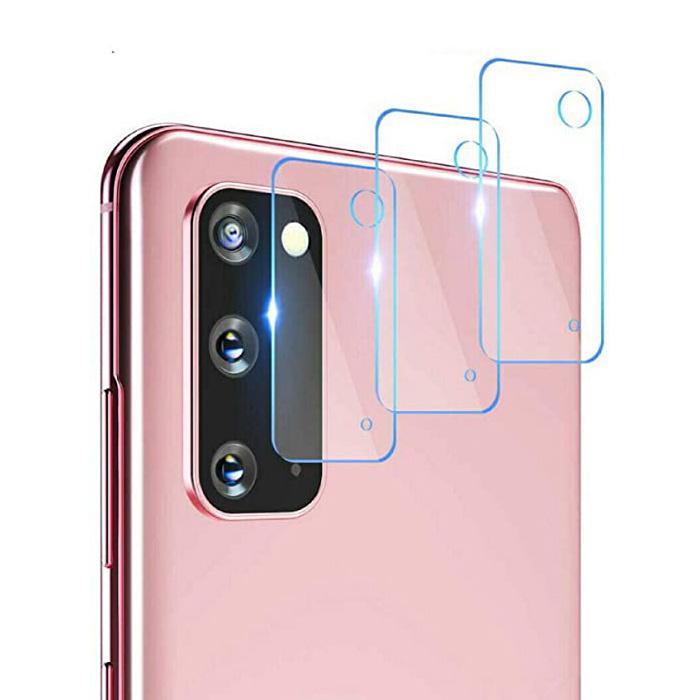 Lot de 3 couvercles d'objectif en verre trempé pour Samsung Galaxy S20 - Protection antichoc