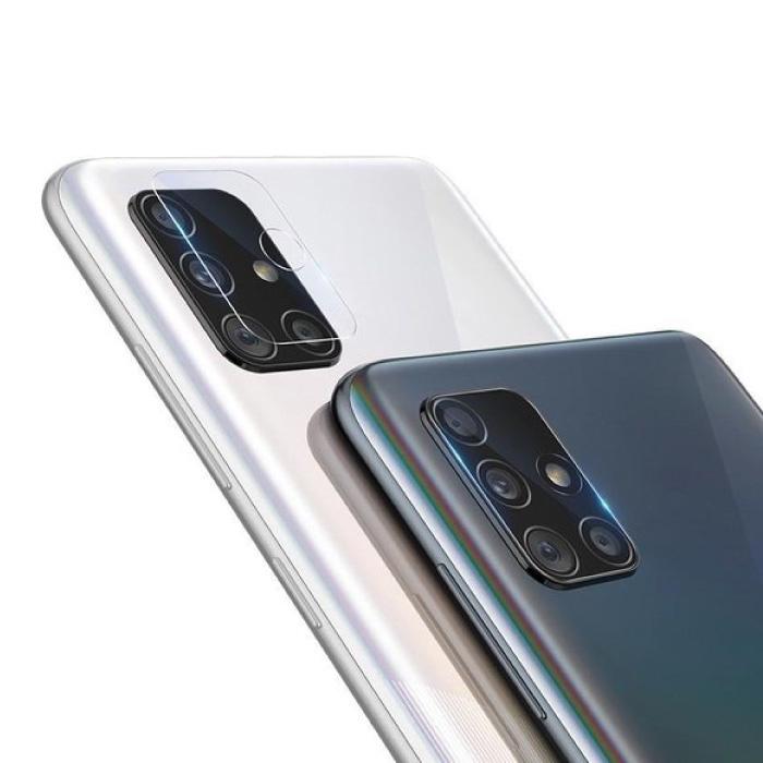 Lot de 2 couvercles d'objectif en verre trempé pour Samsung Galaxy A71 - Protection antichoc