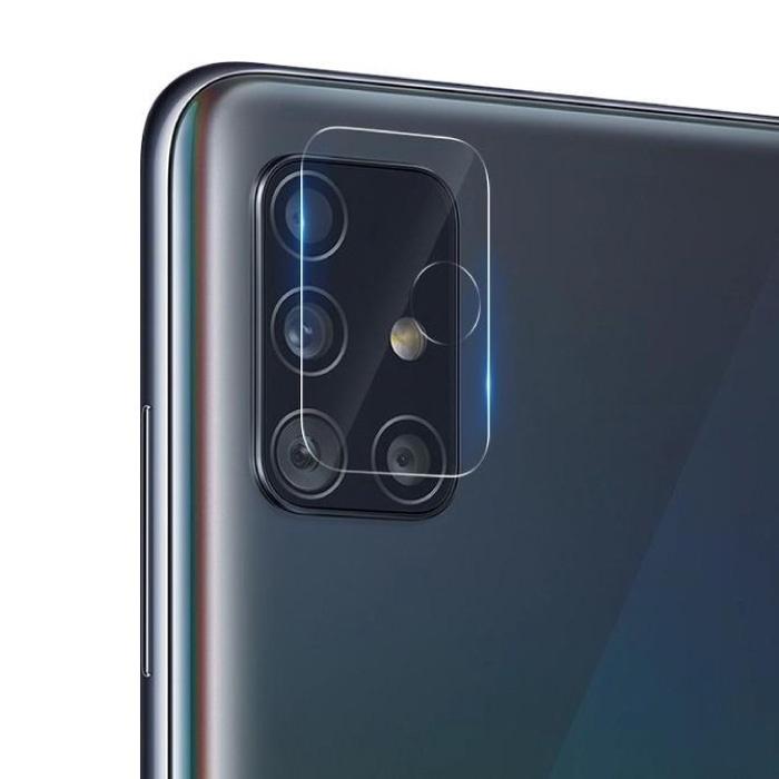 Samsung Galaxy A71 Kameraobjektivabdeckung aus gehärtetem Glas - stoßfester Gehäuseschutz