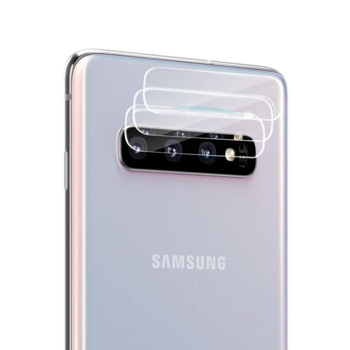 Lot de 3 couvercles d'objectif en verre trempé pour Samsung Galaxy S10 Plus - Protection antichoc