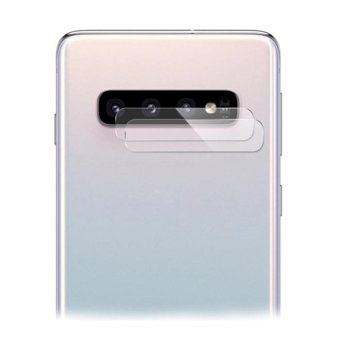 Lot de 2 couvercles d'objectif en verre trempé pour Samsung Galaxy S10 Plus - Protection antichoc
