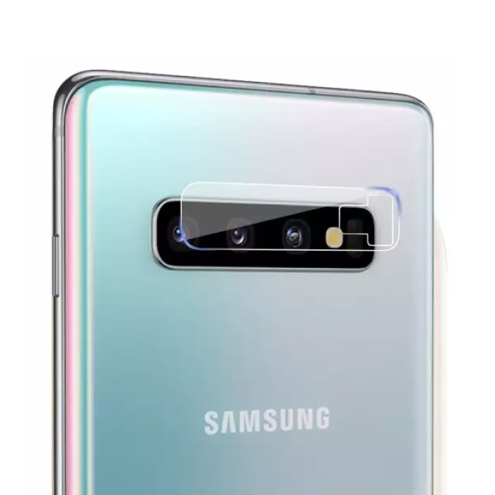 Samsung Galaxy S10 Plus Tempered Glass Camera Lens Cover - Shockproof Case Bescherming