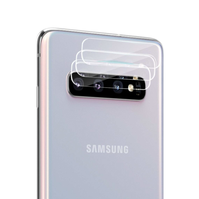 3-Pack Samsung Galaxy S10 Tempered Glass Camera Lens Cover - Shockproof Case Bescherming