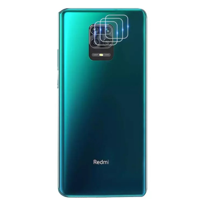 3-Pack Xiaomi Redmi Note 9 Pro Tempered Glass Camera Lens Cover - Shockproof Film Case Protection