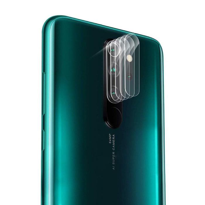 Lot de 3 couvercles d'objectif en verre trempé pour appareil photo Xiaomi Redmi 8A - Protection de l'étui en film antichoc