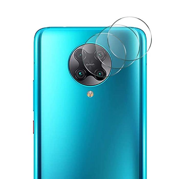 Lot de 3 couvercles d'objectif en verre trempé pour appareil photo Xiaomi Poco F2 Pro - Protection de boîtier en film antichoc