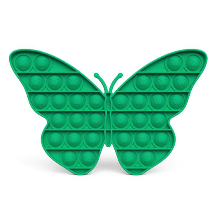 Pop It - Fidget Anti Stress Toy Bubble Toy Silicone Butterfly Green