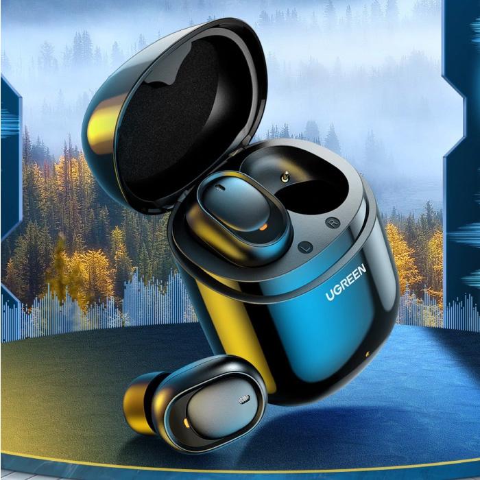 80311E Draadloze Oortjes - Smart Touch Control TWS Bluetooth 5.0 Earphones Earbuds Oortelefoon Zwart