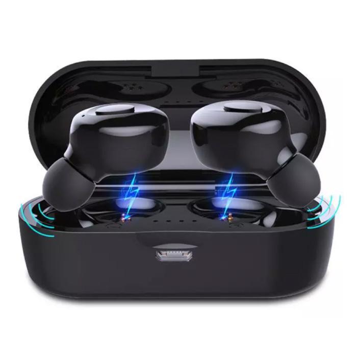 Drahtlose Kopfhörer - Ein-Tasten-Steuerung TWS Bluetooth 5.0 Ohrhörer Ohrhörer Ohrhörer Schwarz